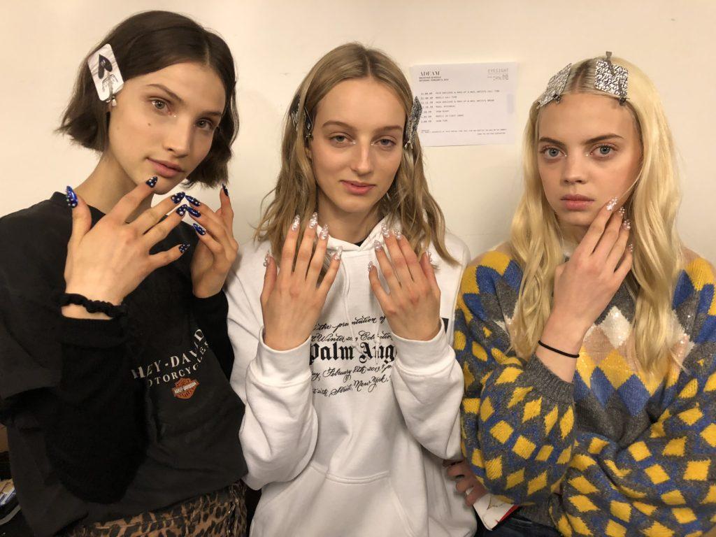 Models pose at NYFW