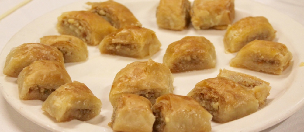 This universally popular sweet treat is layered filo pastry baked and stuffed with nuts and with sugar syrup or honey. Photo by Rithika Shetty.