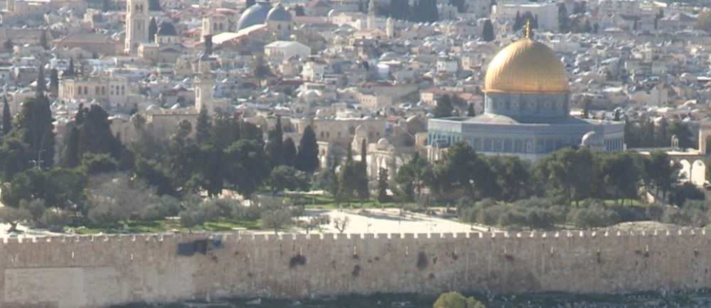 Jerusalem skyline featuring the Temple Mount.